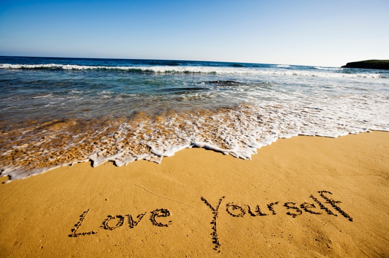 Love yourself beach pic